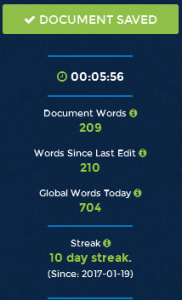 4thewords word count screenshot